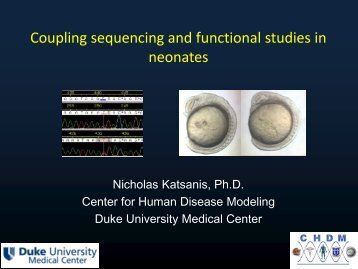 Coupling sequencing and functional studies to improve ... - IRDiRC