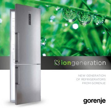 NEW GENERATION OF REFRIGERATORS FROM GORENJE