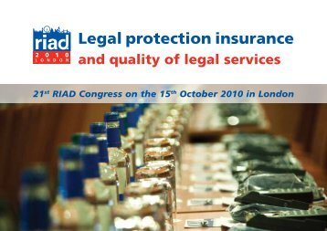 Legal protection insurance - RIAD