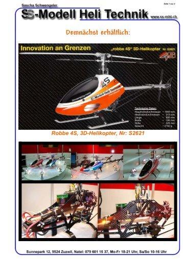 Demnächst erhältlich: Robbe 4S, 3D-Helikopter, Nr: S2621