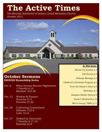 October 2013 - Delano United Methodist Church