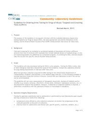 guideline for ordering urine testing for drugs-of-abuse - Ontario ...