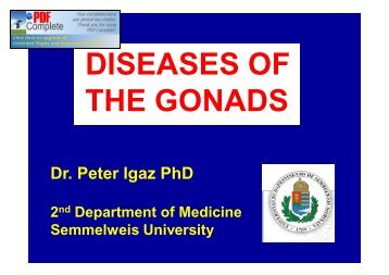 DISEASES OF THE GONADS