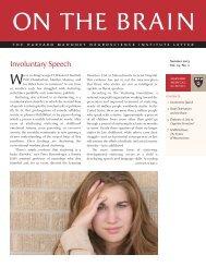 Involuntary Speech - Harvard Medical School - Harvard University