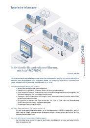 Technische Information Individuelle Raumbedienerführung mit Saia ...