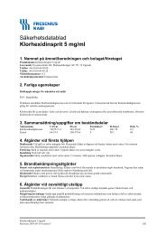 Säkerhetsdatablad Klorhexidinsprit 5 mg/ml - Apoteket