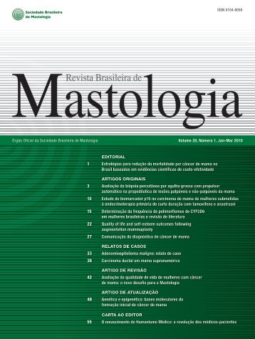 RBM - Volume 20, Número 1, Jan-Mar 2010 - Sociedade Brasileira ...