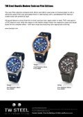 "TW Steel, the name meaning ""The watch in steel"" has rapidly ... - Page 4"