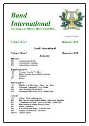Bands - International Military Music Society