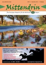 Ausgabe November 2011 - mittendrin-s5.de
