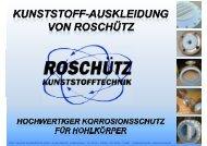 Gesamtportfolio - Roschütz Kunststofftechnik GmbH