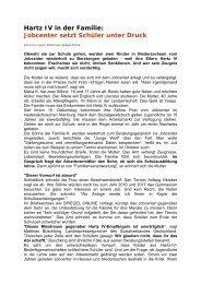 Hartz IV in der Familie: Jobcenter setzt Schüler unter Druck