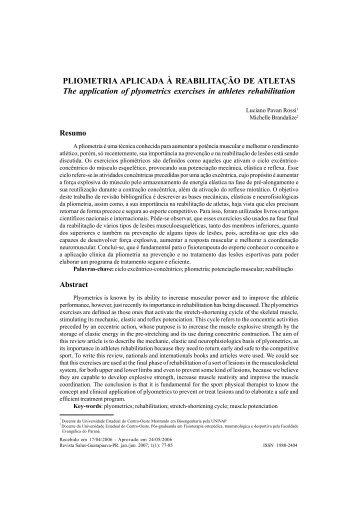 PLIOMETRIA APLICADA À REABILITAÇÃO DE ATLETAS The ...