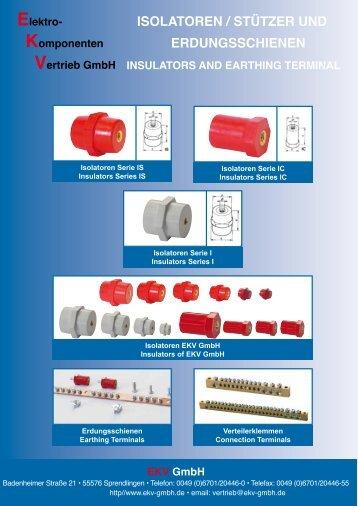 Isolatoren [pdf - 2,26 MB - deutsch] - EKV GmbH