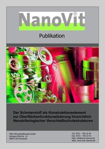 Der Schmierstoff als Konstruktionselement zur - Genanotech.eu