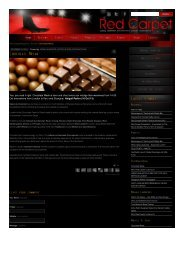 Chocolate Weak | Red Carpet Magazine - Inkaterra