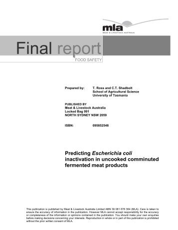 "Download ""Predicting E. coli inactivation in uncooked comminuted ..."