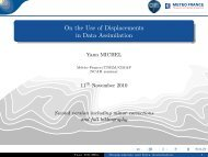 On the Use of Displacements in Data Assimilation - Météo France