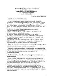 Rede bei der Wahlkreisdelegiertenkonferenz der SPD ...