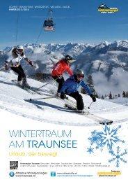 Wintertraum 2013/2014 Folder - Traunsee - Salzkammergut
