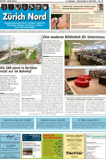 Eine moderne Bibliothek für Unterstrass - Lokalinfo AG