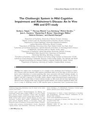 The cholinergic system in mild cognitive impairment and Alzheimer's ...
