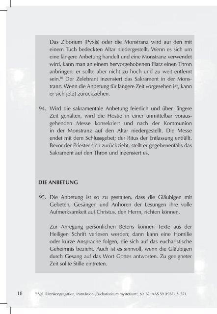 eucharistieverehrung und ewige anbetung - Liturgie-muenchen.de