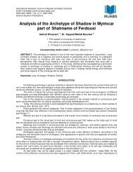 Analysis of the Archetype of Shadow in Mythical part of ... - irjabs.com