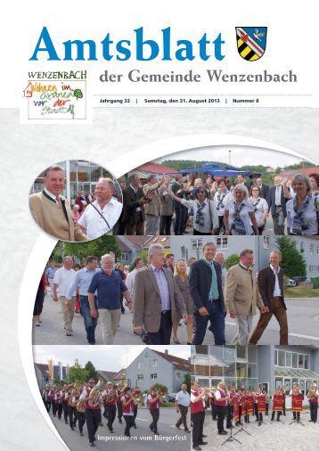 Amtsblatt der Gemeinde Wenzenbach
