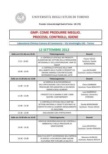 Programma - Università degli Studi di Torino