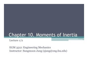 Chapter 10. Moments of Inertia