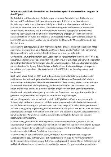 Kommunalpolitik für Menschen mit Behinderungen ... - Carsten Zinn