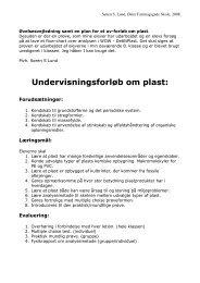 Undervisningsforløb om plast: - Plastindustrien