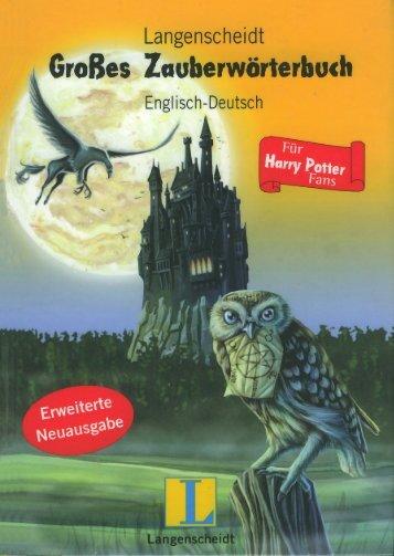 Langenscheidt - Großes Zauberwörterbuch Englisch - Deutsch