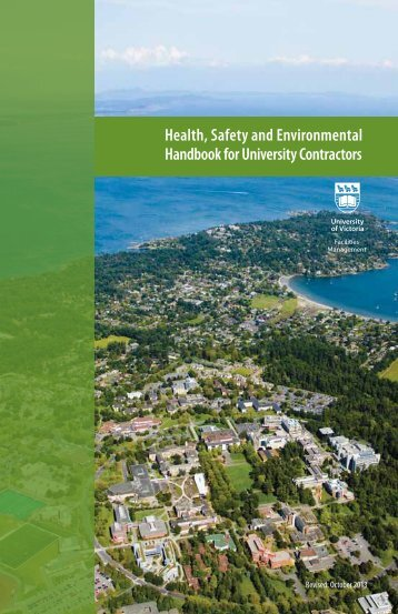 Health, Safety and Environmental Handbook for University Contractors