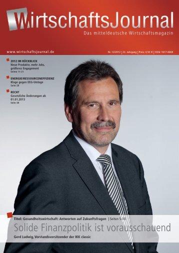 Dezember 2012 des Wirtschaftsjournals