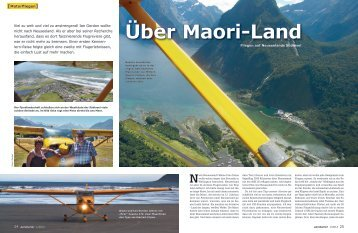 Über Maori-Land - Flyinn New Zealand