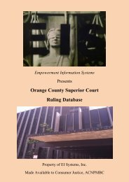Orange County Superior Court Ruling Database - Consumer-justice ...