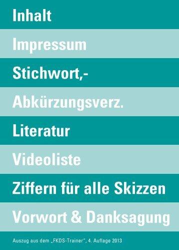Informationen: Vorwort, Inhalt, Verzeichnisse - Didamed Verlag GmbH