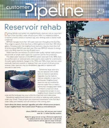 Reservoir rehab - East Bay Municipal Utility District