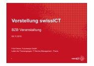 swissICT Vorstellung am BZB Event 05.11.2013 ... - bzb Weiterbildung