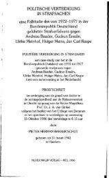 Stammheim, Politische Verteidigung in Strafsachen - Social History ...