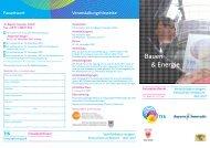 Bauen & Energie Anmeldung und Programm
