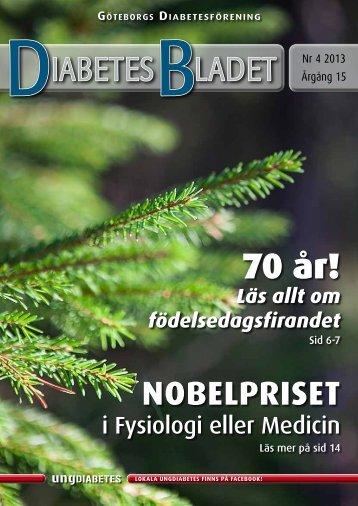 DiabetesBladet nr 4, 2013 - Göteborgs Diabetesförening