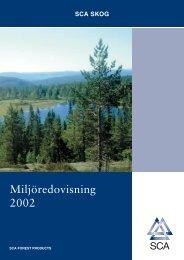 Miljöredovisning 2002 - SCA Forest Products AB