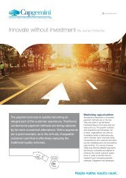 Innovate without investment By Jeroen Hölscher - Capgemini