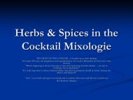 Herb's and Spices in Cocktail Mixologie - Cocktails
