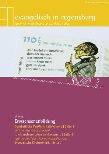 Oktober bis November - Evangelisch in Regensburg
