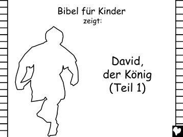 David the King Part 1 German CB - Bible for Children