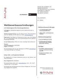 Wettbewerbsausschreibungen - Kammer der Architekten und ...